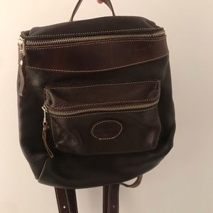 Vintage Roots Brown Leather Backpack